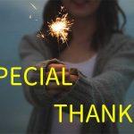 SPECIAL THANKS!!ありがとうじゃ足りないので勝手に紹介コーナー!笑