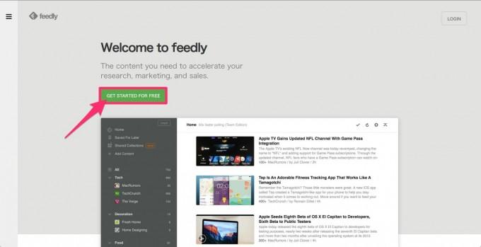 feedly登録
